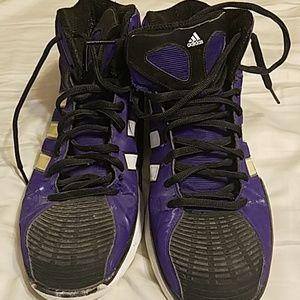 Adidas purple high tops US mens 13